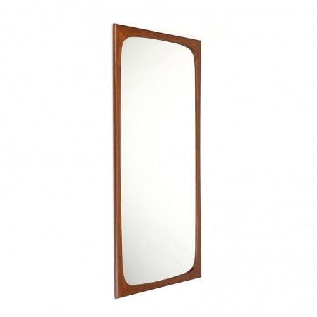 Deense vintage grote teakhouten spiegel