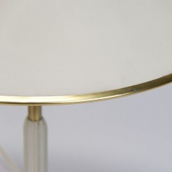 Danish vintage sixties table lamp with brass detail