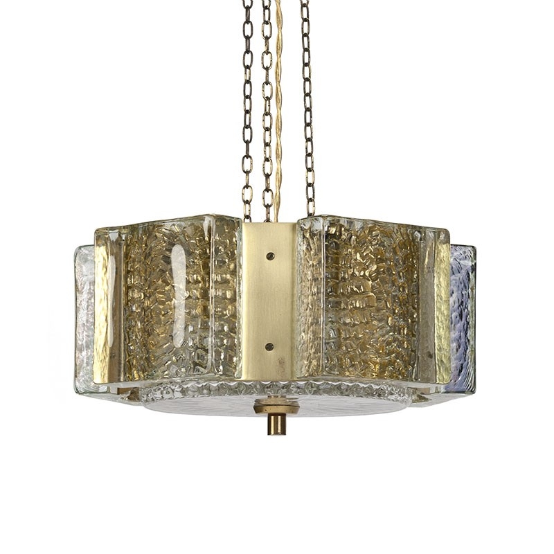 Vitrika type Kalmar vintage hanging lamp