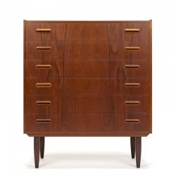 Danish mid-century vintage teak chest of drawers