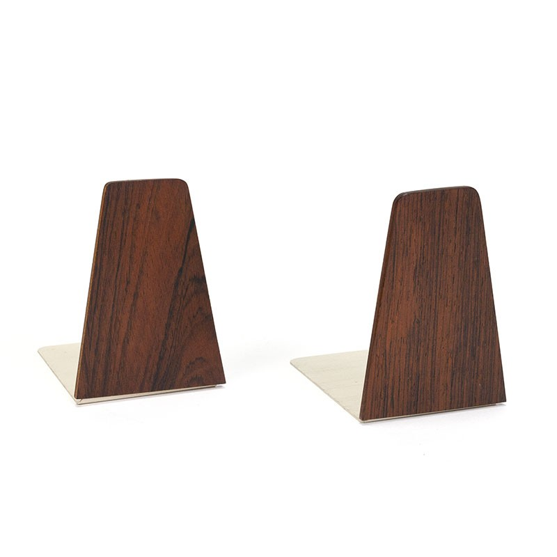Set of 2 vintage bookends in rosewood