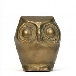Brass vintage miniature owl