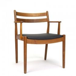 Eiken vintage FDB stoel ontwerp Poul Volther