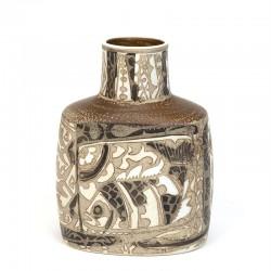 Small vintage Aluminia Baca vase design Nils Thorsson