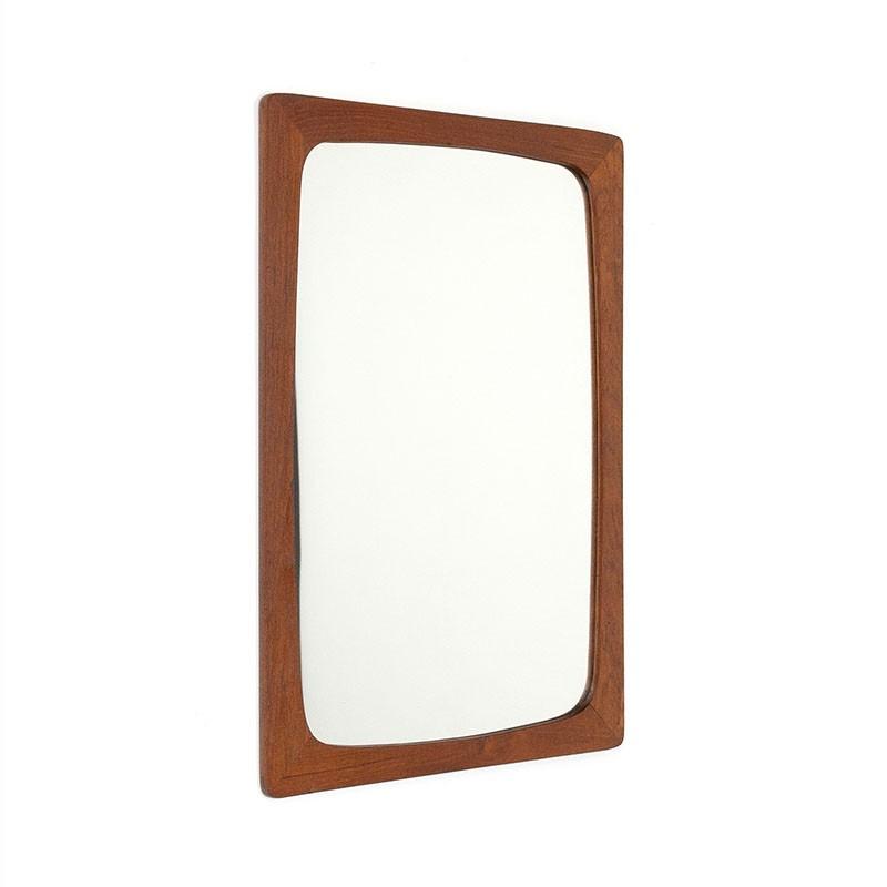 Teak Danish small vintage mirror