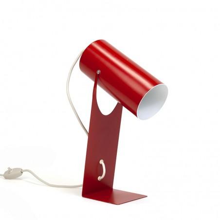 Rode vintage tafellamp