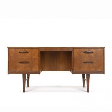 Smal vintage teakhouten bureau