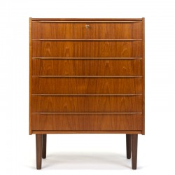 Danish chest of drawers vintage model with long handle
