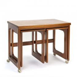 Vintage teak folding side table from McIntosh