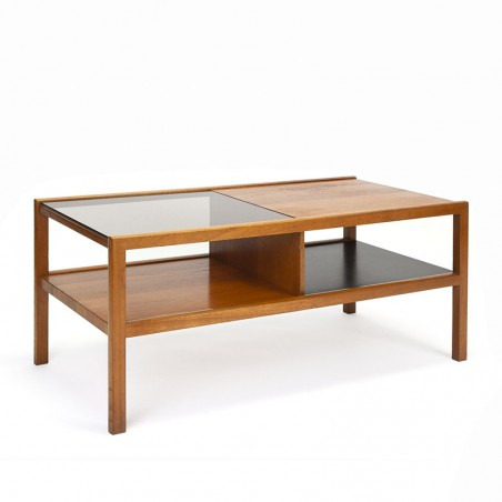 Vintage salontafel van McIntosh met deels glazen blad