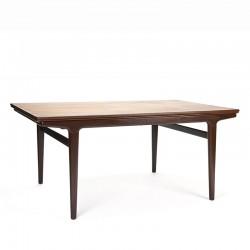 Teak vintage dining table design Johannes Andersen