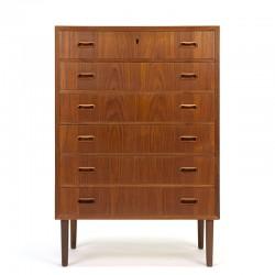 Chest of 6 drawers Danish vintage model