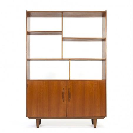 Vintage bookcase or room divider in teak