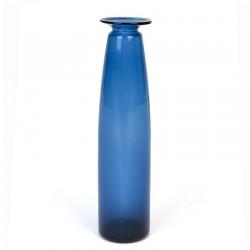 Narrow model blue glass vintage vase