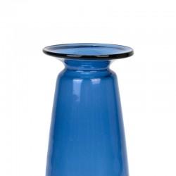Smal model blauw glazen vintage vaas