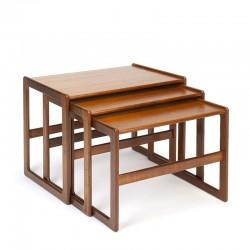 Vintage nesting tables design Arne Hovmand Olsen