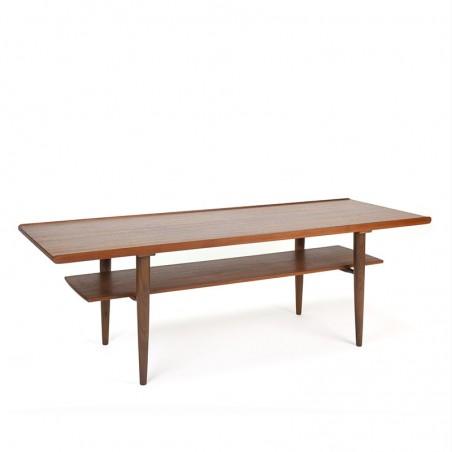 Teak elongated Danish vintage coffee table