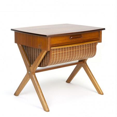 Teak vintage sewing table