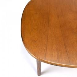 Vintage teak dining table oval extendable model