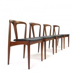 Vintage set of Juliane chairs design Johannes Andersen