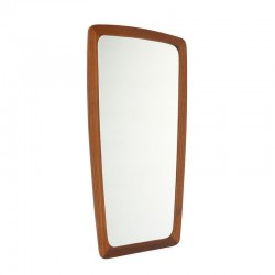 Danish vintage mirror with teak edge