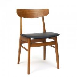 Teakhouten vintage stoel merk Findahl's