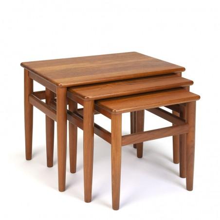 Set of Danish vintage design nesting tables in teak