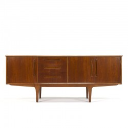Vintage laag model teakhouten dressoir