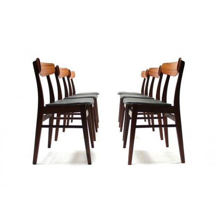 Set of 6 Danish rosewood dinner chairs
