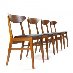 Farstrup model 210 vintage set of 4 chairs