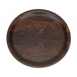 Rosewood vintage round model tray