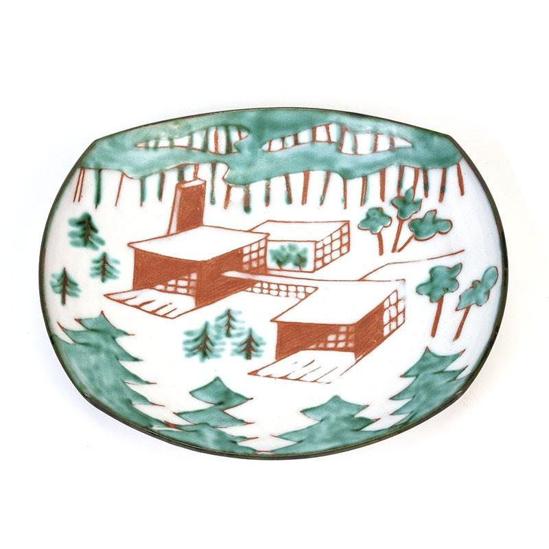 Vintage schaaltje van keramiek 'Zonnewende'