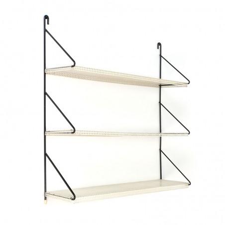 Dutch vintage perforated metal wall rack