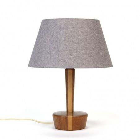 Deense vintage teakhouten tafellamp