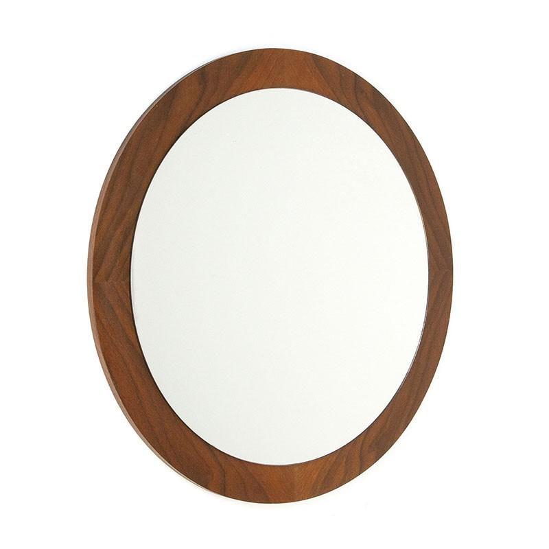 Danish teak vintage round mirror