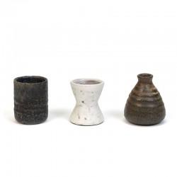Miniatuur set van 3 vintage Mobach vaasjes