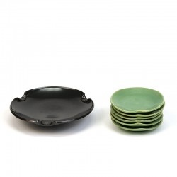 Joep Felder Tegelen set of vintage small dishes