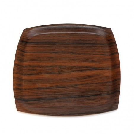 Square vintage rosewood tray