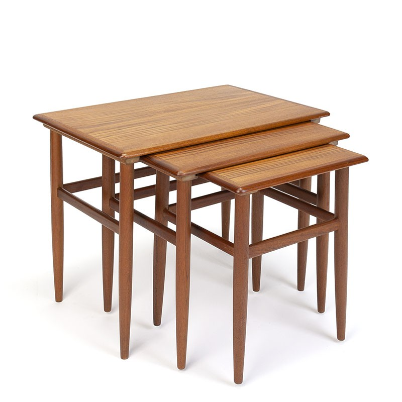 Set of nesting tables vintage Danish design