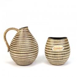 Set of 2 vintage Dümler & Breiden Hohr small vases