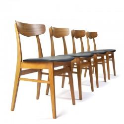 Set Deense vintage Farstrup eettafel stoelen