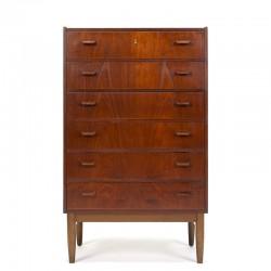 Teak Danish vintage chest of drawers design Poul Volther