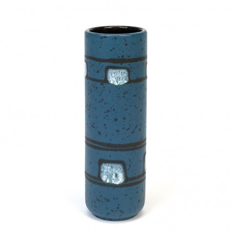 Blauwe vintage Ilkra vaas