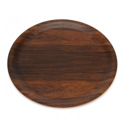 Round rosewood vintage model tray