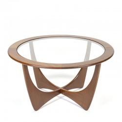 Gplan Astro model vintage salontafel met teak frame