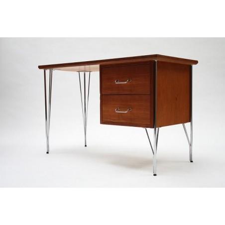 Desk on chrome base