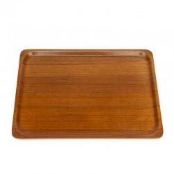 Large vintage teak tray