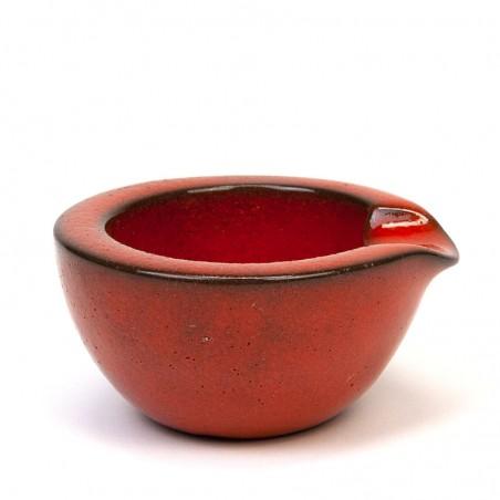 Kleine aardewerken vintage asbak van Ravelli