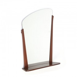 Danish vintage mirror with shelf from the fifties