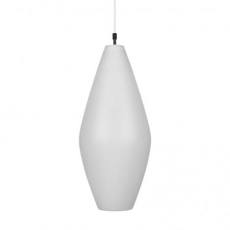 Large model vintage milk glass hanging lamp